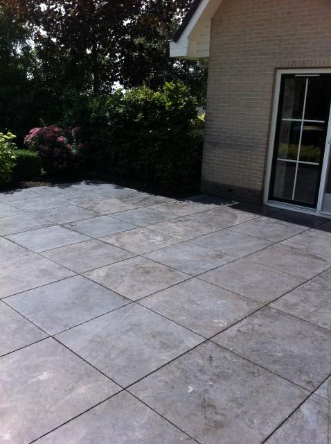 Natuursteen Tegels Tuin.Tuin Tegels Natuursteen 80x80x3 Cm